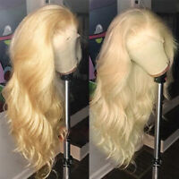 Pre Plucked Wavy 613 Blonde Lace Front Wigs Peruvian Remy Human Hair Wig Women Y