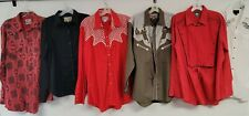 Lot Of 75 Western Shirts Southwest 80s 90s Rockabilly Pearl Snaps Wrangler