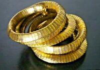 VINTAGE EGYPTIAN REVIVAL CLEOPATRA SNAKE GOLD TONE WRAP BRACELET