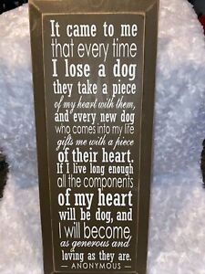 """It came To Me Dog Quote Wooden Wall Plaque 18 X 7 1/2"""""""