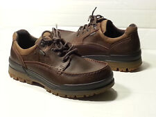 ECCO Rugged Track GTX Moc Tie Brown Leather Shoes Size 40 EUR (8.5 US)