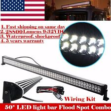 50inch LED Work Light Bar 288W Straight Truck Offroad 4X4 SUV Boat Driving Jeep