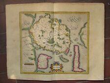 CARTE DE FIONIE et îles voisines, vers 1610. DANEMARK par Mercator.