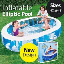 BESTWAY 2.29x1.52x51cm Inflatable Blue Elliptic Pool Family Kid Summer Fun
