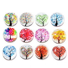 5Pc Cute Tree of Life Fridge Magic Magnet Home Decoration Glass Cabochon Sticker
