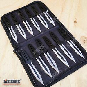 12PC Ninja Hunting KNIVES Tactical Combat Naruto Kunai  Knife Set + Case