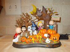 Danbury Mint Peanuts Welcome Great Pumpkin Lighted Sculpture
