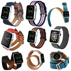 Luxburg® Premium Apple Watch Double Loop Leather Strap Band in Different Color
