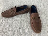 Cole Haan Signature Grand Os. Brown Leather Horse Bit Driving Loafers Size 7 M