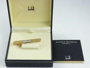 dunhill Gold Plated Tie Clip Clasp with Box