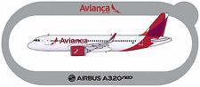 STICKER AUTOCOLLANT AIRBUS A320neo AVIANCA v1 Brazil
