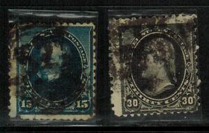 United States #227,228 1890-93 Used