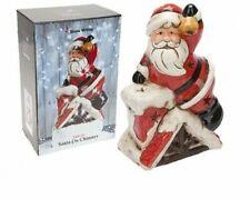 Light Up Santa On Chimney In Colour Box 22cm Ornament christmas gift present