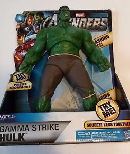 "THE AVENGERS Movie Collection Gamma Strike HULK 10"" Action Figure Unopened"