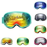Professional Ski Goggles Snowmobile Snowboard Anti-fog Glasses UV Double Lens