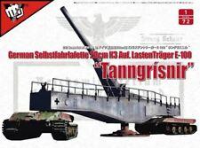 Modelcollect 1 72 Fist of War WWII German 28cm Kanone 3 auf Lastenträger E-100