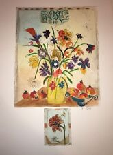 """Floral-Art-Prints-Bracha Guy-""""Etching With Remarque / One of One-Hand Colored"""