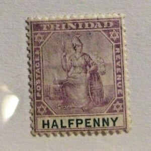 Trinidad Half Penny, Scott #74 * MH, fine + 102 card