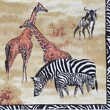 2 single paper napkins decoupage crafts collection Animals Birds Africa giraffe