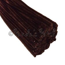 "Brown Craft Stems Pipe Cleaners Chenille or Tinsel 12"" 30cm Choose Pack Size"