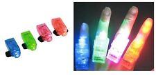 Plastic Fingers Lamp LED Bright Flashlights Beams Flashing Kids Gift Torch Ring