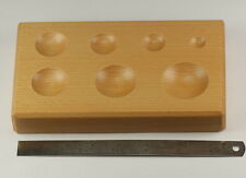 Dapping block wood wooden 7 ROUND HOLES doming forming tool shaping jewellers