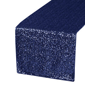 """Glitter Sequin Table Runner Cloth Sparkly Wedding Christmas Party Decor 12""""x108"""""""