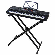 61 Keys LCD Teaching Keyboard DynaSun MK2085 with USB port and Stand Support