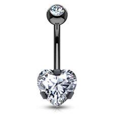 HEART Gem Stud BELLY Button BARS NAVEL Barbells RINGS BODY Piercings Jewelry