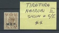 COLONIE SOMALIA 1942 5d. RARO NAIROBI II 2 **  CERT.