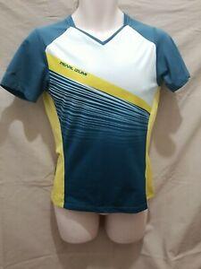 Pearl Izumi Mens Cycling shirt yellow, grey Color Block Logo Short Sleeve Sz M