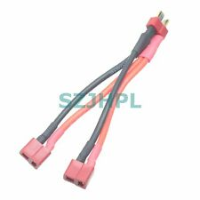 Deans Style T-Plug Parallel Y Harness one male two female Lipo RC Battery cable