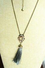 BAUBLEBAR Crystal & Tassel Pendant Necklace