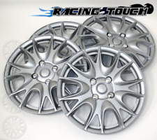 "Wheel Cover Replacement Hubcaps 14"" Inch Metallic Silver Hub Cap 4pcs Set #533"