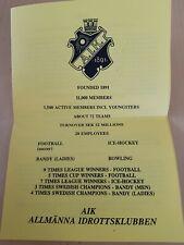 AIK Solna,Allsvenskan 1996,autograph Set original signed, UEFA Cup winners cup