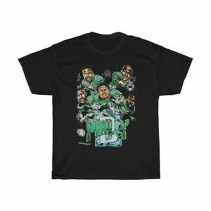 Vintage 90s Philadelphia Eagles Players NFL Football short T-shirt Black TK0958