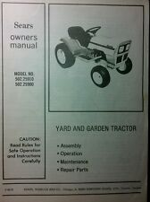 Sears-Murray ST8 ST10 Lawn Garden Tractor Owner & Parts Manual 36pg 502.25910