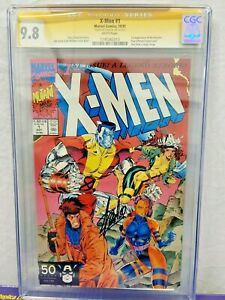 X-MEN #1 CGC 9.8 SIGNED SS BY STAN LEE JIM ART GAMBIT ROGUE COVER MARVEL