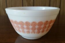 VINTAGE PYREX ORANGE POLKA DOT MIXING BOWL 1 1/2 PINT #401