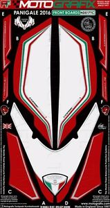 Motografix Ducati 1299/959 Panigale Rouge/Blanc/Vert Carénage Avant Numéro