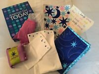 NEW in box! American Girl Dream Big 7 pc Bedding Set - For 3 in 1 quilt pillows
