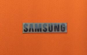 1 pcs Sticker for SAMSUNG Label Aufkleber Badge Logo 30mm x 6mm Chrome color