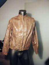 Vintage Men's Genuine Snakeskin Reptile Zip Up Jacket