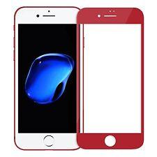 Apple iPhone 7 - 4D Vollschutz Panzerglas Folie Display voll Glas vollglas ROT