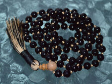 108 Black Tourmaline 8 mm Mala deflecting radiation energy Healing Root Chakra