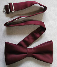 """BURGUNDY VINTAGE MENS DICKIE BOW TIE BOWTIE 1990s ADJUSTABLE SIZE 14"""" TO 19"""""""