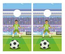 Soccer Goalie Cornhole Board Vinyl Decal Wrap Sticker Skin Funny Joke