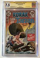 Korak, Son of Tarzan #52 CGC 7.5 SS Len Wein 1973 JOE KUBERT Michael Kaluta