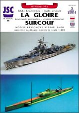 Card Model Kit – French cruiser La Gloire and submarine Surcouf