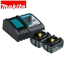 NEW MAKITA 18V BATTERY CORDLESS BL1850 5AMP BATTERIES X 2 AND DC18RC CHARGER